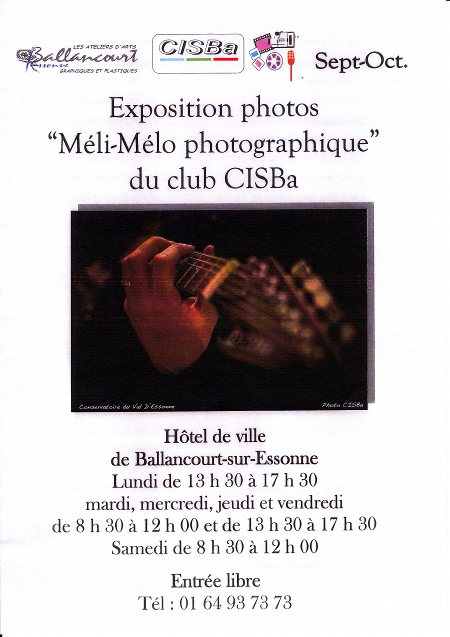 "Exposition photos ""Méli-Mélo photographique"" du club Cisba"